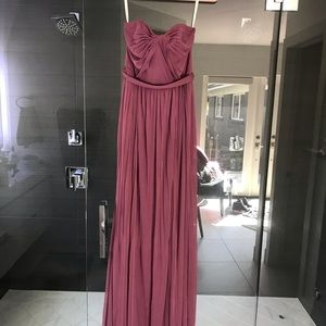David's bridal strapless/strapped bridesmaid dress